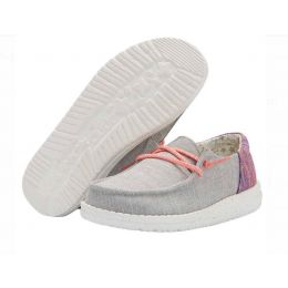 Hey Dude Grey Wendy Youth Funk Casual Shoes 130123026