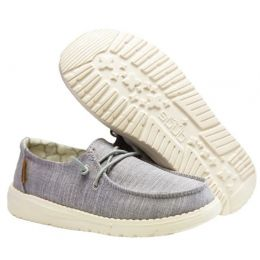 Hey Dude Linen Grey Wendy Youth Casual Shoes 130123096