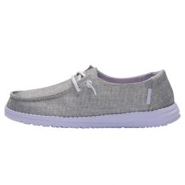 Hey Dude Sparkling Grey Lilac Wendy Youth Sparkling Girls Casual Shoes 130123166