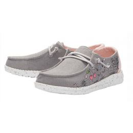 Hey Dude Grey Wendy Youth Doodle Casual Shoes 130123167