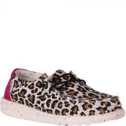 Hey Dude Cheetah Wendy Youth Casual Shoes 130129758