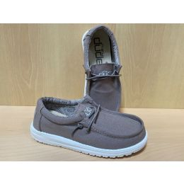 Hey Dude Wally Grey Youth Kids Casual Shoes 130133000