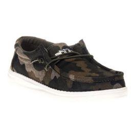 Hey Dude Wally Linen Camo Youth Kids Casual Shoes 130157003
