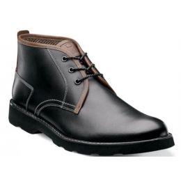 Florsheim Black Casey Plain Toe Chukka Mens Boots 13255-001