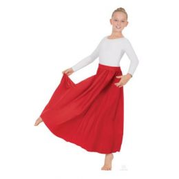Eurotard White 31 Inch Childrens Circle Skirt 13778C