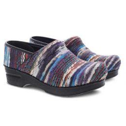 Dansko Blue Multi Coated Yarn Pro Womens Comfort Clogs 139-540202