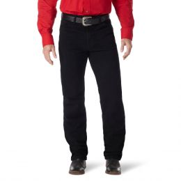 Wrangler Black Prewashed Cowboy Cut Original Fit Boot Cut Mens Jeans 13MWZWK-BK