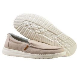 Hey Dude Women's Misty Chambray Beige Ship On Shoes 140010522