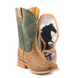 Karman Roper Horse Power Ride Fast Sole Mens Western Boots 14-020-0077-0382 TA