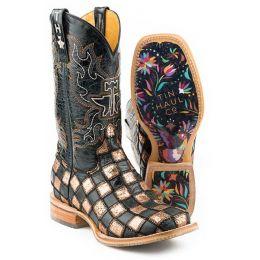 Karman Roper Ooh La La Full Of Color Womens Patchwork Western Boots 14-021-0077-1383 BR