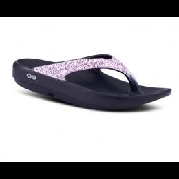 Oofos Pink with Black Oolala Bandana Women's Sandals 1403PINKBANDANA