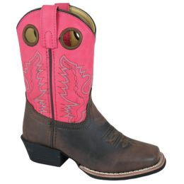 Smoky Mountain Brown/Pink Memphis Childrens Western Boots 1413C