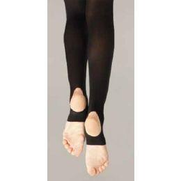 145C Hold & Stretch Nylon/Lycra Childs Stirrup Tights (Sizes S-L)