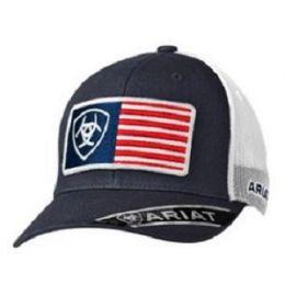 Ariat Blue  Mens USA Flag Ball Cap 1517603