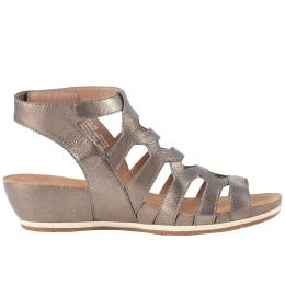 Dansko Pewter Nappa Leather Valentina Cage Womens Sandals 1523-971200
