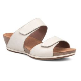 Dansko Oyster Milled NubuckLeather Vienna Womens Slide On Sandals 1525-611200