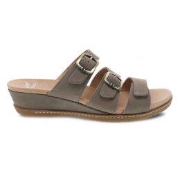 Dansko Allyson Stone Milled Nubuck Womens Slide On Sandals 1530-790300