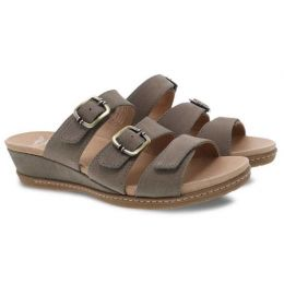 Dansko Allyson Stone Milled Nubuck Womens Slide On Sandals 1530-790300