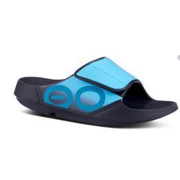 OOFOS Black & Aqua OOAHH Sport Flex Womens Sandals