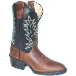 Pocono Black/Brown Leather Kids Western 1550