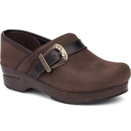 Dansko Pammy Brown Milled Nubuck Closed Back Clog Comfort Womens Shoes 167-067878