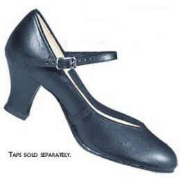 1751 Black Leather 2-in Heel Character/Tap Shoes **ONLINE PRICE ONLY