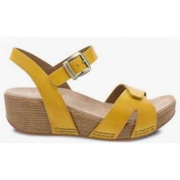 Dansko Women's Laurie Yellow Burnished Calf Sandal 1823-170600