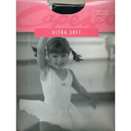 1860C Capezio Ultra Soft Childs Footed Body Tight With Clear Straps -One Size
