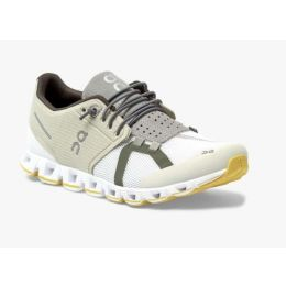 On Hay/White Cloud 70/30 Womens Comfort Running Shoes 19-99826