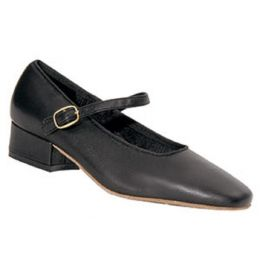 1951 Black Square Stepper 1 inch Heel Womens Square Dance Shoes