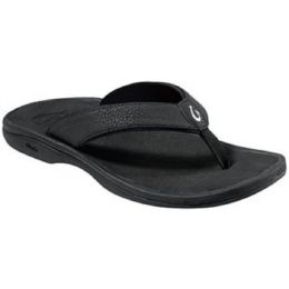 20110-4040 OHANA Black Thong Flip-Flop OluKai Womens Sandals