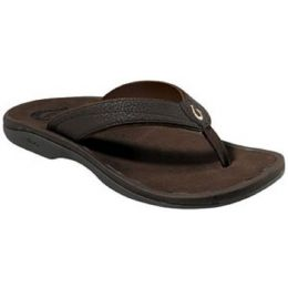 OluKai OHANA Dark Java Thong Womens Flip-Flop Sandals 20110-4848