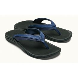 Olukai Blueberry/Black 'Ohana Womens Thong Sandals 20110-4A40