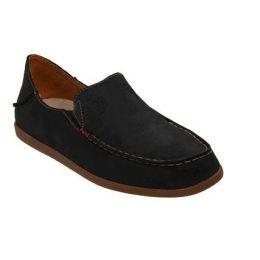Olukai Black Nohea Nubuck Womens Shoes 20174-4034