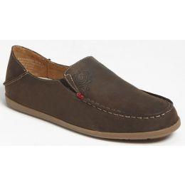 20174-4834 Nohea Dark Java/Tan Nubuck Slip-On Olukai Womens Shoes