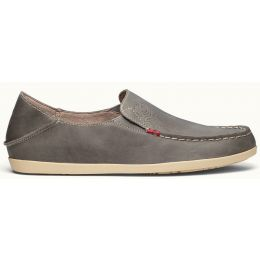Olukai Nohea Nubuck Basalt/Tapa Leather Slip-On Comfort Womens Shoes 20174-8A20