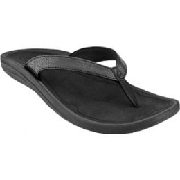 20198-4040 Kulapa Kai Black Thong Flip-Flop Sandal Olukai Womens Shoes