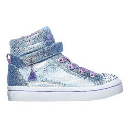 Skechers Light Blue/Silver Girl's Twinkle Toes Twi-Lites-Miss Holla-Glam Shoes 20240N