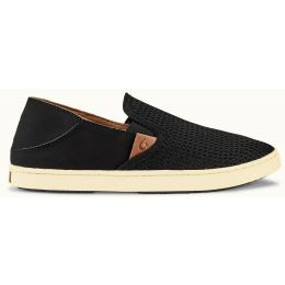 Olukai Pehuea Black Mesh Slip-On Comfort Womens Shoes 20271-4040