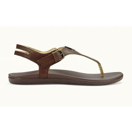 Olukai Kona Coffee Adjustable Ankle Strap Womens Sandals 20327-SASA