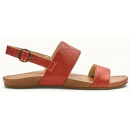 Olukai HI'ONA PA'I Paprika/Tan Leather Womens Sandals 20346-PK34
