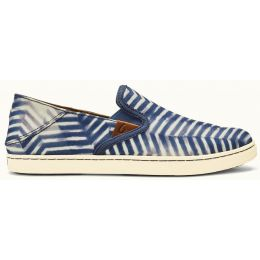 Olukai  PEHUEA PA'I Vintage Indigo/Off White Canvas Slip-On Comfort Shoes 20360-V118