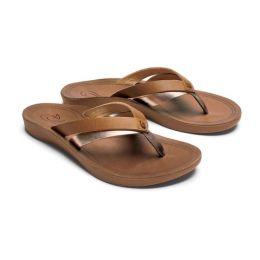 Olukai Sahara/Bubbly Kaekae Leather Womens Beach Sandals 20374-FMFA