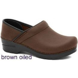 Dansko Professional Brown Oiled Leather  Mens Clogs 206-780202