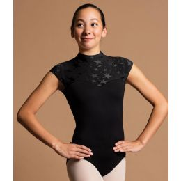 Motionwear Sweetheart Cap Sleeve With Stars Zip Back Adult Leotard 2178