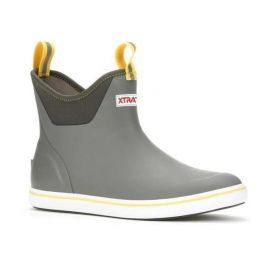 XTRATUF Gray/Yellow Men's 6 Inch Ankle Deck Boot 22735