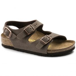 Birkenstock Roma Slide Moca Leather Kids Sandals 23307-3