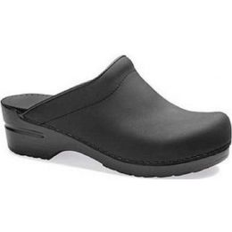 247-020202 Sonja Black Oiled Leather Open-Back Clogs Dansko Womens Shoes (Whole Sizes 5-12)