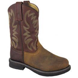 Smoky Mountain Wellington Brown Leather Kids Boots 2470C