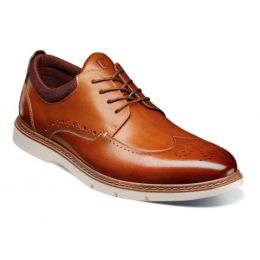 Stacy Adams Cognac Synergy Wingtip Mens Oxford Shoes 25418-221